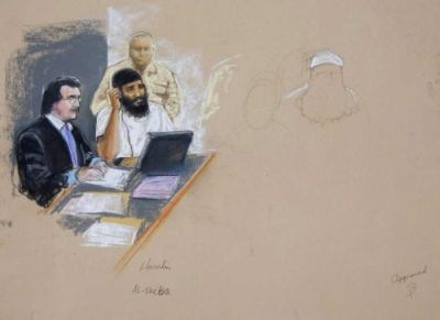 Ramzi bin al-Shibh at his arraignment in Guantanamo, June 5, 2008