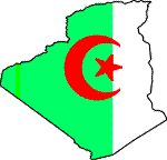 Flag/map of Algeria