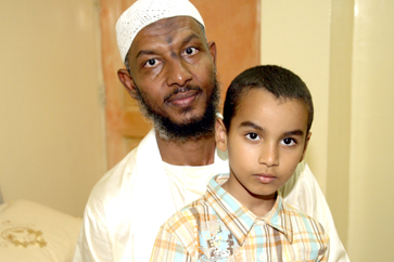Sami al-Haj and his son Mohammed