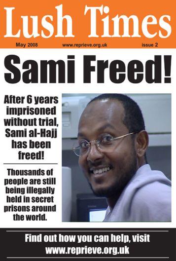 Lush's new Sami al-Haj poster