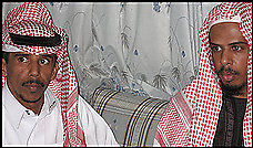 Mishal al-Harbi (right), and his brother Fahd