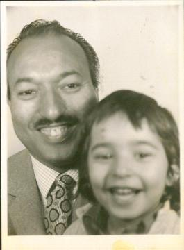 Omar Deghayes with his father
