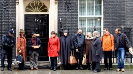 Petition delivered to 10 Downing Street, January 11, 2008