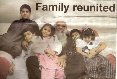 Jamil El-Banna and his children