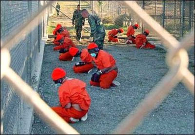 January 11, 2002: one of the first images from Guantanamo