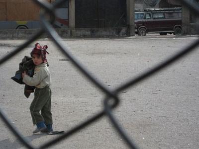 An Iraqi boy in Saida Zeinab, Syria