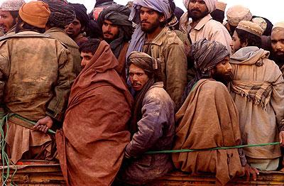 Prisoners captured after the fall of Kunduz