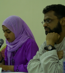 Marium Begg and her father, Moazzam