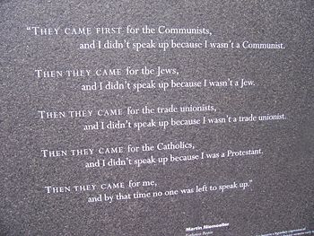 The poem attributed to pastor Niemoller