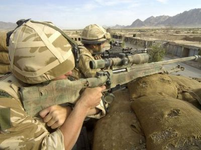 The British Royal marines in Helmand province, Afghanistan