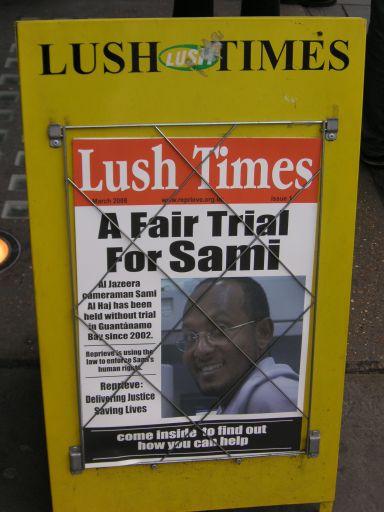 Lush's Sami al-Haj poster