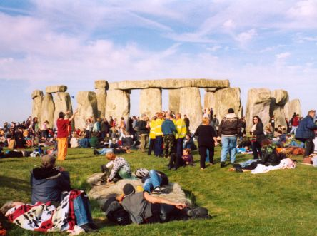 The solstice at Stonehenge, 2003