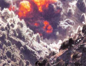 The bombing of Tora Bora