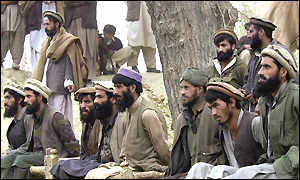 Prisoners captured in the Tora Bora region