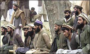 Prisoners captured in the Tora Bora region