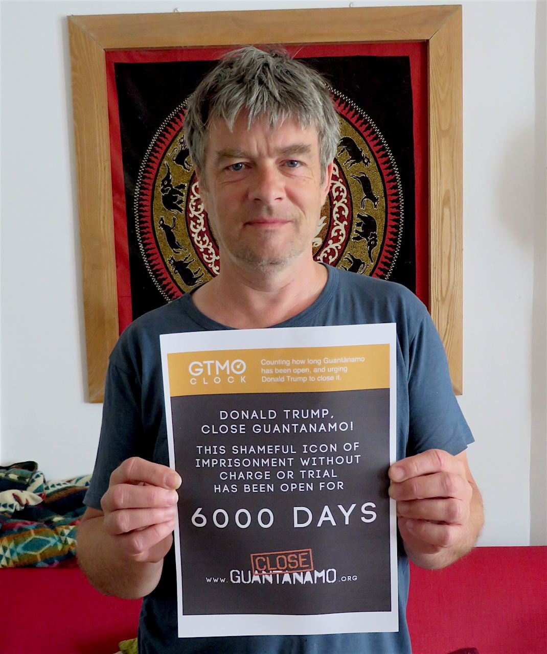 Andy Worthington marks 6,000 days of Guantanamo on June 15, 2018.