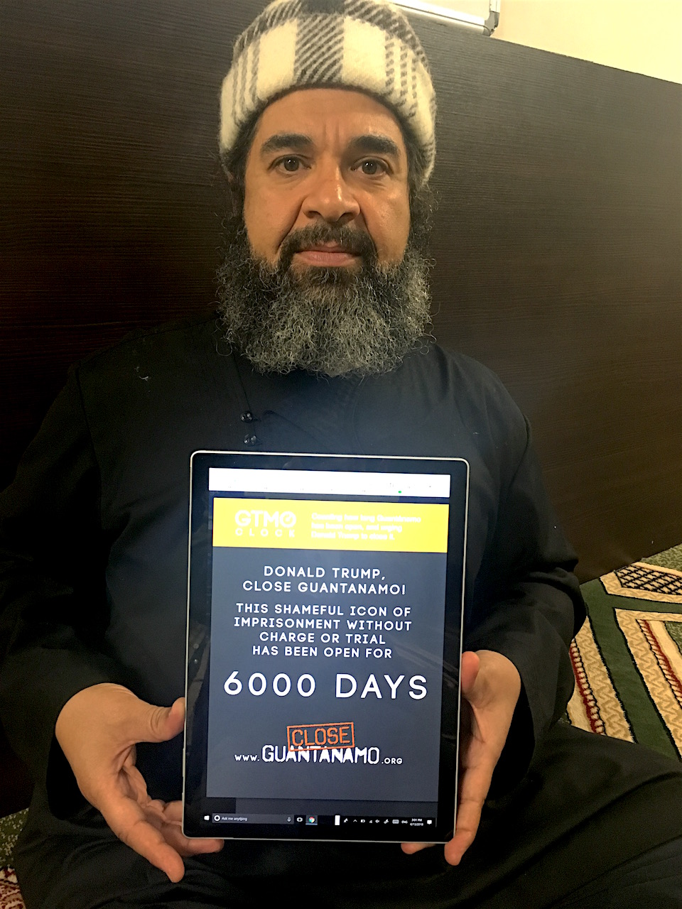 Former Guantanamo prisoner Shaker Aamer urges Donald Trump to close Guantanamo on June 15, 2018, the 6,000th day of the prison's existence.