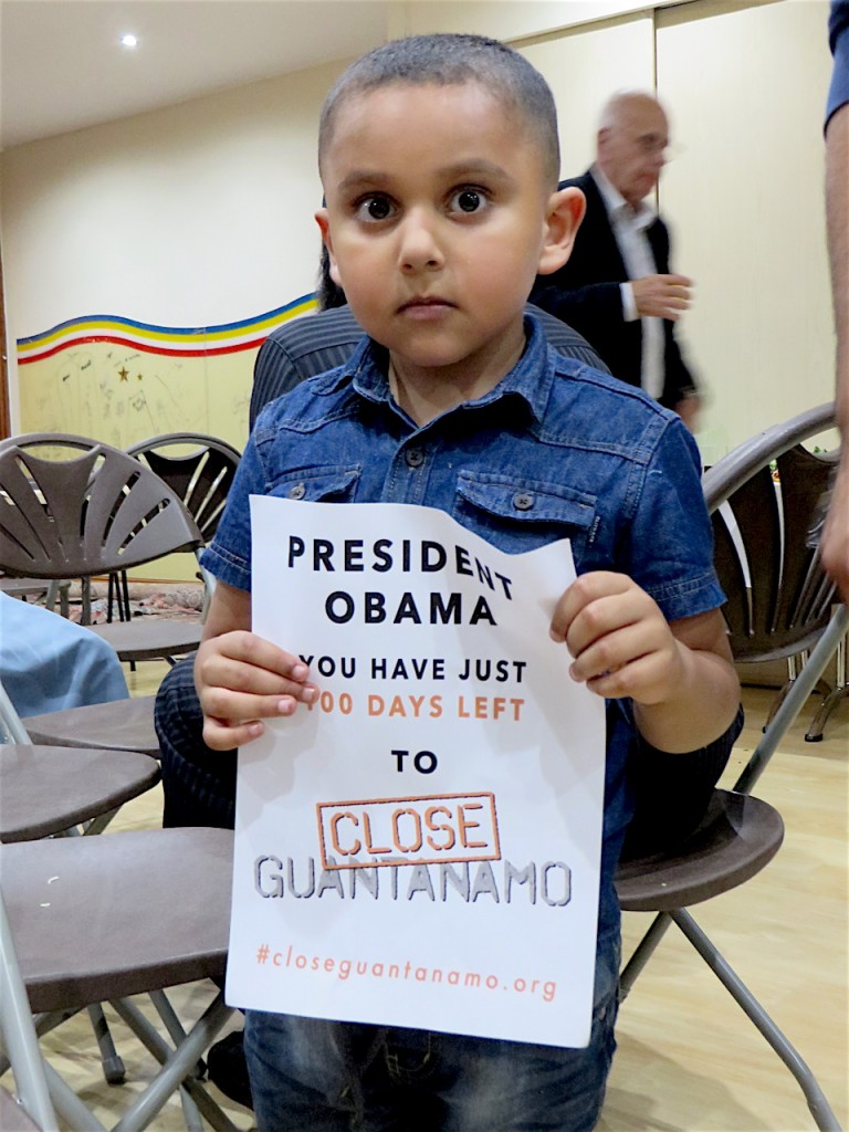 This is Ibrahim, supporting the Countdown to Close Guantanamo at a recent event in Tooting, south east London (Photo: Andy Worthington).