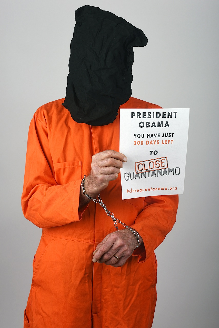 Steve Lane, from Bethesda, Maryland, supports the Countdown to Close Guantanamo.