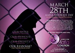 Poster for Aafia Siddiqui Day, March 28, 2010