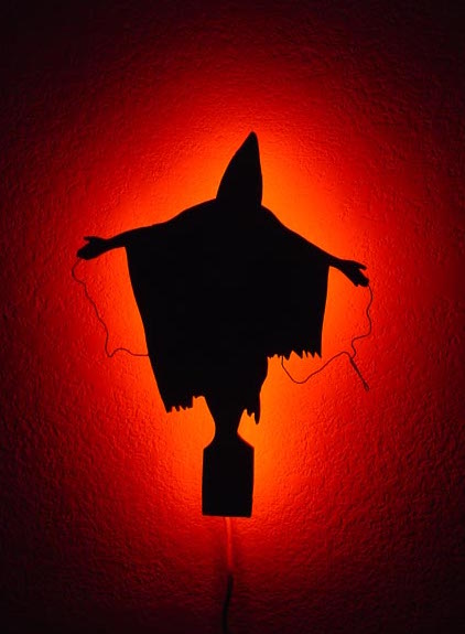 An image of the crucified figure from Abu Ghraib that I found on a 2009 Uprising Radio page.