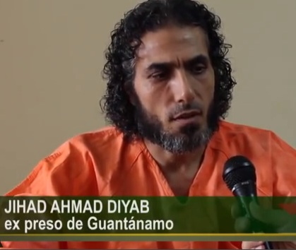 Released Guantanamo prisoner Abu Wa'el Dhiab in a screenshot from an interview he did with an Argentinian TV channel in February 2015, two months after his release in Uruguay with five other men.