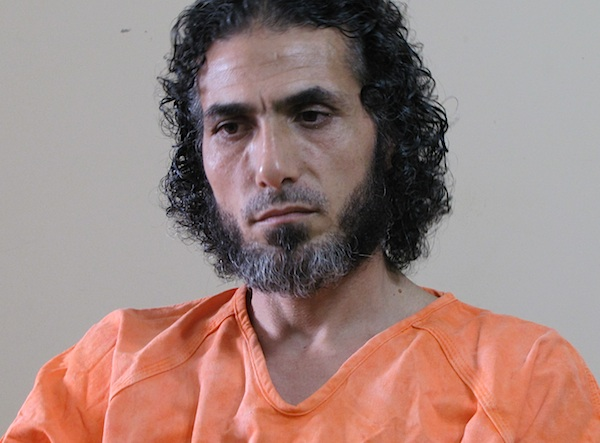 Former Guantanamo prisoner Abu Wa'el Dhiab after his release (in Uruguay in December 2014). This is a screen shot from a TV broadcast in Argentina, where Mr. Dhiab travelled in February, to call for the government to offer new homes to other Guantanamo prisoners.