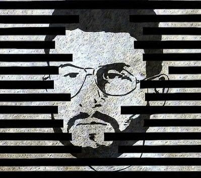 Abu Zubaydah, in an illustration by Jared Rodriguez, used to accompany an article on Truthout.