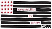 "The logo for the ACLU's ""Accountability for Torture"" initiative"