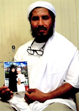 Ahmed-al-Darbi, photographed at Guantanamo by representatives of the International Committee of the Red Cross in August 2009.