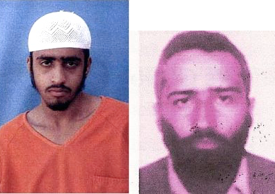 Yasser al-Zahrani and Ali al-Salami, two of the three Guantanamo prisoners who died in June 2006, allegedly by committing suicide. No photo of the third man, Mani al-Utaybi, has ever surfaced.