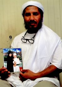 Ahmed al-Darbi at Guantánamo, in a photo taken by representatives of the International Committee of the Red Cross and presented to his family on August 7, 2009