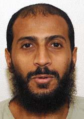 Guantanamo prisoner Ali Hamza al-Bahlul, in a photo included in the classified military files released by WikiLeaks in April 2011.