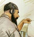 A court drawing of Ibrahim al-Qosi from an earlier hearing