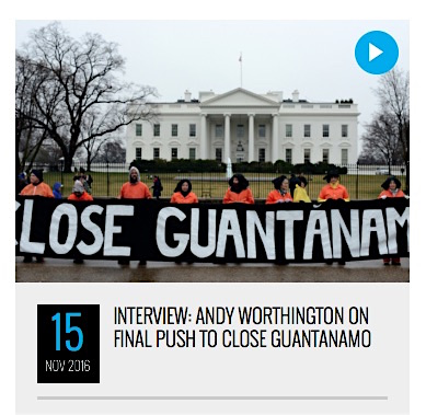 The image from Shadowproof for Kevin Gosztola's interview with Andy Worthington in November 2016.