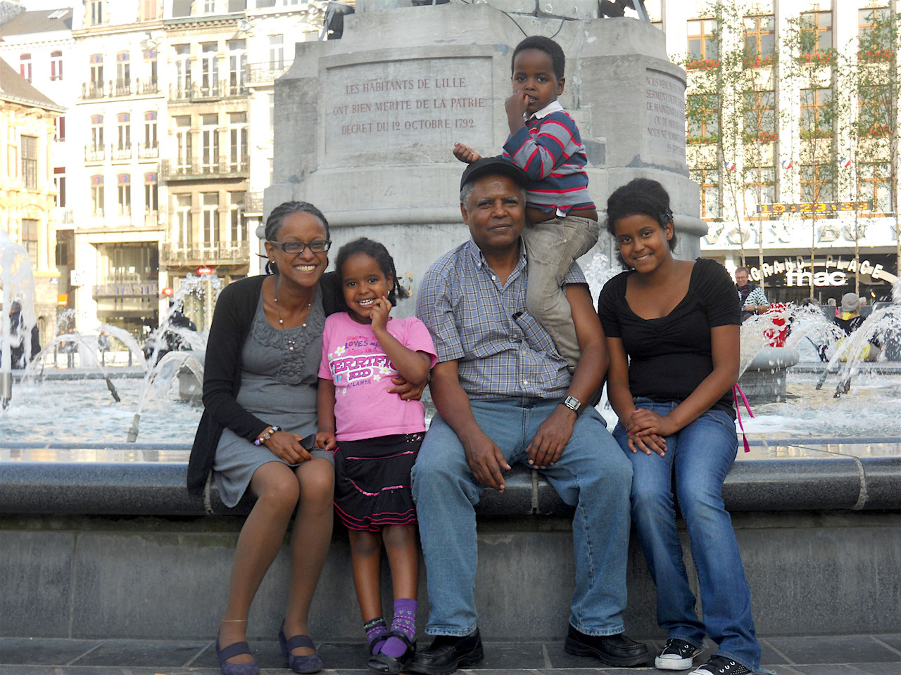 Andy Tsege, photographed with his family before he was kidnapped and illegally imprisoned by the Ethiopian government in 2014.