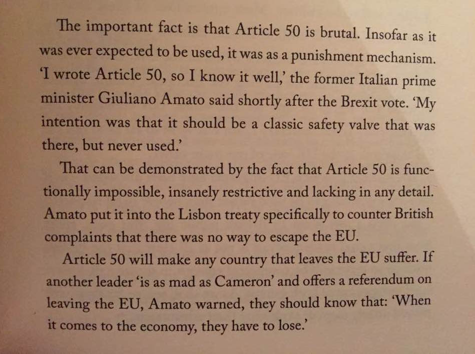 The excerpt on Article 50 from Ian Dunt's book 'Brexit: What The Hell Happens Now?'