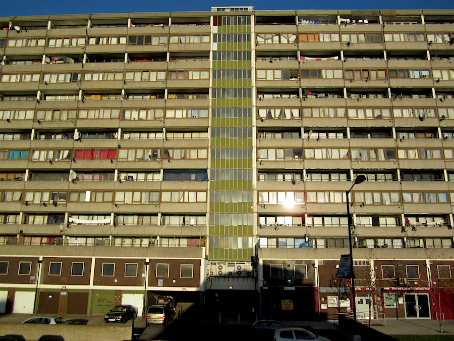 One of the main blocks on the Aylesbury Estate in Walworth, south east London, photographed in November 2012 (Photo: Andy Worthington).