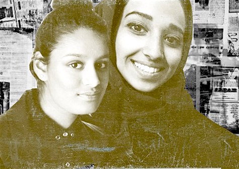 """ISIS brides"" Shamima Begum and Hoda Muthana (composite image by Ozy)."