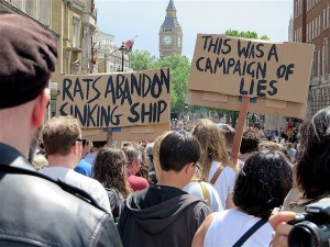 Signs on the March for Europe in London on July 2, 2016 (Photo: Andy Worthington).