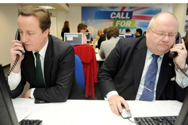 Prime Minister David Cameron and Eric Pickles, the Secretary of State for Communities and Local Government.
