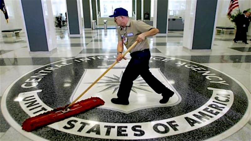 A cleaner at CIA headquarters.