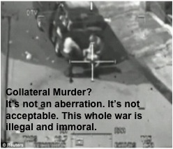 Collateral Murder: an image from the leaked video of murders in Iraq