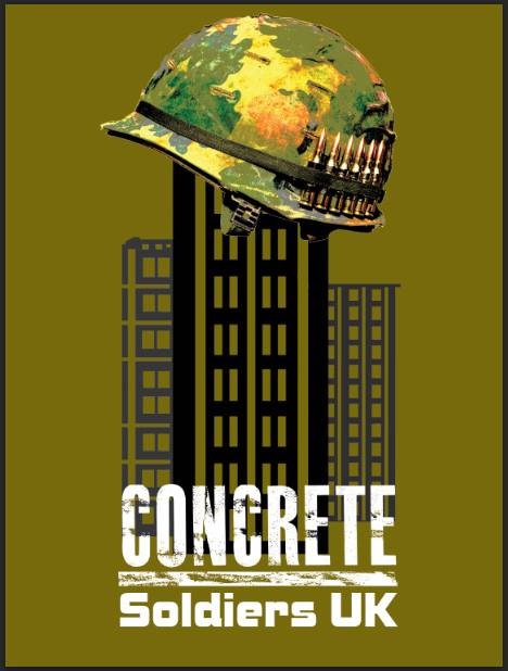 Concrete Soldiers UK: an image by street artists the Artful Dodger, who has created the imagery and logos for the film.