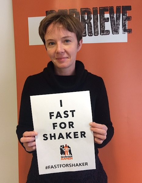 Cori Crider of Reprieve, photographed as part of the Fast For Shaker on October 15, 2015, shortly after returning from Guantanamo, where she and her legal team had spent six hours with Shaker Aamer.