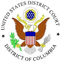 The logo for the US District Court for the District of Columbia