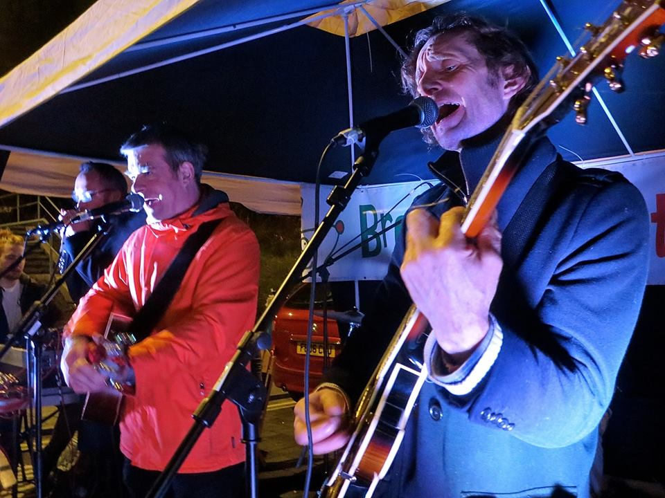 The Four Fathers playing at Brockley Christmas Market on December 17, 2016 (Photo: Bo Bodiam).