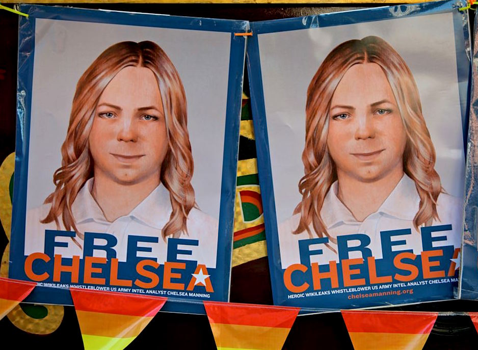 Free Chelsea Manning posters, via torbakhopper on Flickr.