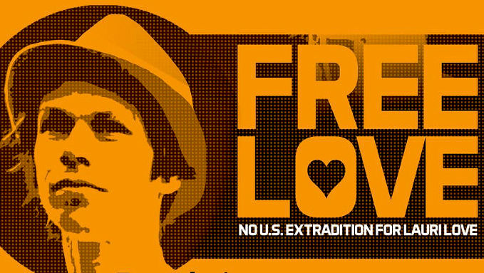 An image created by the campaign to prevent computer expert Lauri Love from being extradited to the US.