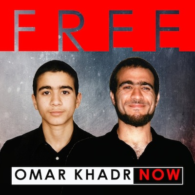 The updated logo for the Free Omar Khadr Now campaign.